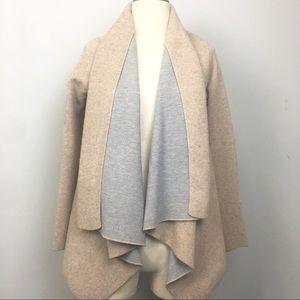 Zara Knit Oversized Chunky Flowy Tan Open Cardigan